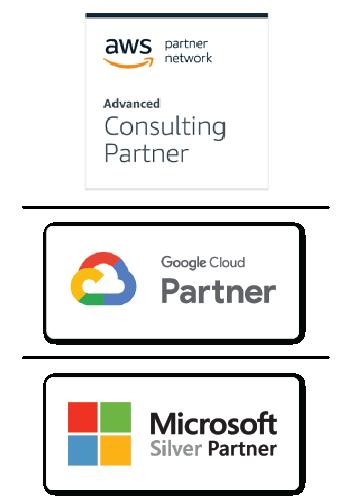 AWS Azure y Google Cloud Partners
