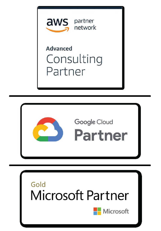Somos Partners de Google Cloud, AWS y Azure.