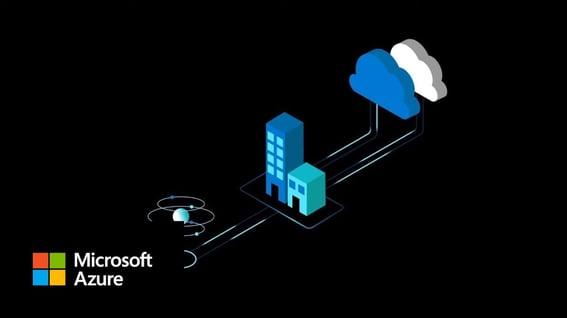 Estructura de la nube híbrida de Microsoft.