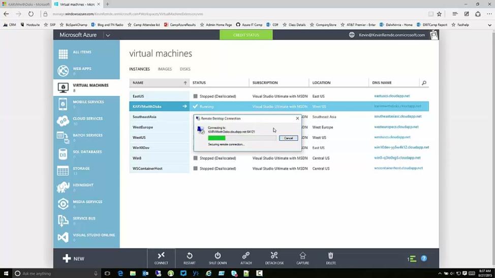 Virtual machines Azure